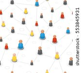 refer a friend seamless pattern.... | Shutterstock .eps vector #553845931
