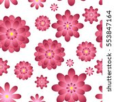 pink flowers seamless.... | Shutterstock .eps vector #553847164