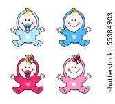 baby set | Shutterstock .eps vector #55384903