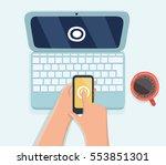 vector cartoon illustration of... | Shutterstock .eps vector #553851301