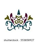 design element in art nouveau... | Shutterstock .eps vector #553858927