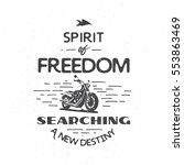 classic motorcylce typography... | Shutterstock .eps vector #553863469