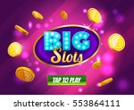 online big slots casino banner  ... | Shutterstock .eps vector #553864111