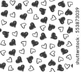 seamless pattern with hearts.... | Shutterstock .eps vector #553873039