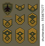 set of army badge typography  t ... | Shutterstock .eps vector #553875277
