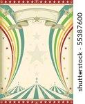 Rainbow Circus Vintage Poster....
