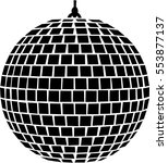 mirror ball | Shutterstock .eps vector #553877137