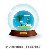 snow dome holiday vacation...   Shutterstock .eps vector #55387867