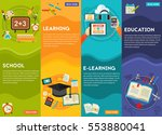 education and e learning... | Shutterstock .eps vector #553880041