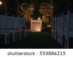 beautiful wedding ceremony in... | Shutterstock . vector #553886215