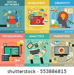 flat concept banners.... | Shutterstock .eps vector #553886815