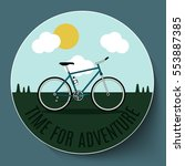 bike on the background of the... | Shutterstock .eps vector #553887385