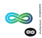 infinity knot with two parallel ... | Shutterstock . vector #553894999