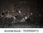 Detail Of A Wall Destroyed By...