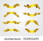 set of gold ribbons.golden... | Shutterstock .eps vector #553901695