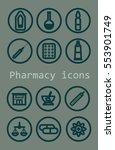 set of vector pharmacy icons... | Shutterstock .eps vector #553901749