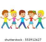 kids little boys and girls go...   Shutterstock .eps vector #553912627