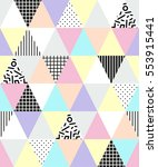 cute 80's style seamless...   Shutterstock .eps vector #553915441