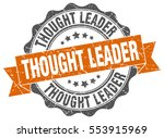 thought leader. stamp. sticker. ... | Shutterstock .eps vector #553915969