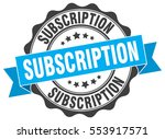 subscription. stamp. sticker.... | Shutterstock .eps vector #553917571