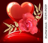 valentine s day background. red ...   Shutterstock .eps vector #553919059