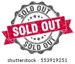 sold out. stamp. sticker. seal. ... | Shutterstock .eps vector #553919251