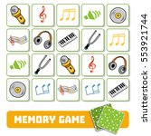 memory game for preschool... | Shutterstock .eps vector #553921744