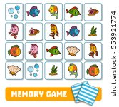 memory game for preschool... | Shutterstock .eps vector #553921774