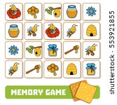 memory game for preschool... | Shutterstock .eps vector #553921855