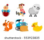 vector illustration of a six... | Shutterstock .eps vector #553923835
