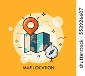 world map  destination point... | Shutterstock .eps vector #553926607
