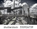 "Small photo of Outdoor facility of the ""Zeche Zollverein"" in Essen-Germany. The closed coke oven plant is world heritage site."