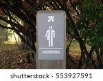 gender neutral sign  outdoors ...   Shutterstock . vector #553927591