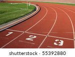 athletics track lane numbers | Shutterstock . vector #55392880