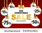 big christmas sale tags with... | Shutterstock .eps vector #553931401
