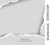 realistic vector torn paper... | Shutterstock .eps vector #553931569