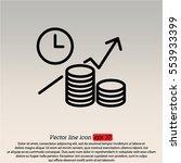 web line icon. business idea ... | Shutterstock .eps vector #553933399