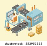 automated factory assembly line ... | Shutterstock .eps vector #553953535