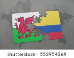 puzzle with the national flag... | Shutterstock . vector #553954369