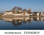 view on rapperswil  lake zurich ... | Shutterstock . vector #553960819