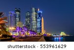 Stock photo doha at blue hour 553961629