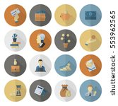 business and finance  flat icon ... | Shutterstock .eps vector #553962565
