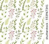 seamless watercolor background. ... | Shutterstock . vector #553967341