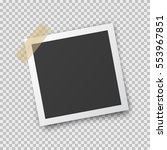 realistic square photo frame... | Shutterstock .eps vector #553967851