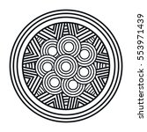 mandala art isolated icon | Shutterstock .eps vector #553971439
