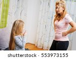 mother and daughter having...   Shutterstock . vector #553973155
