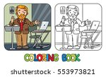coloring book of funny... | Shutterstock .eps vector #553973821