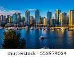 beautiful view of vancouver ... | Shutterstock . vector #553974034