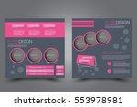 square flyer template. brochure ... | Shutterstock .eps vector #553978981
