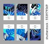 set of 6 creative contemporary...   Shutterstock .eps vector #553979569